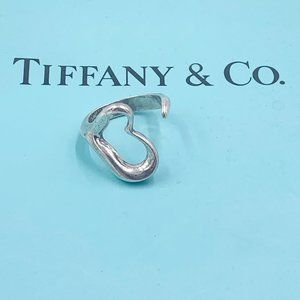 Authentic Tiffany & Co 925 Silver Heart Ring Sz 6